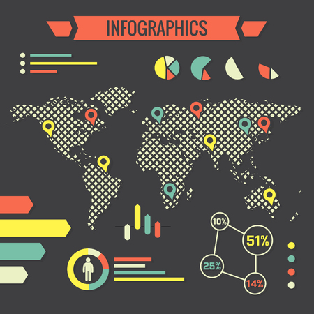 business presentation: World infographic  Flat style design