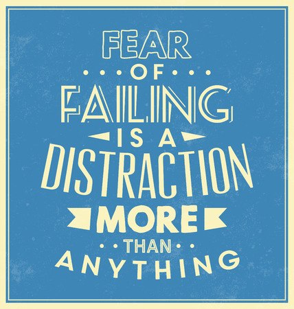 distraction: Typographic Background  Motivational Quote Illustration