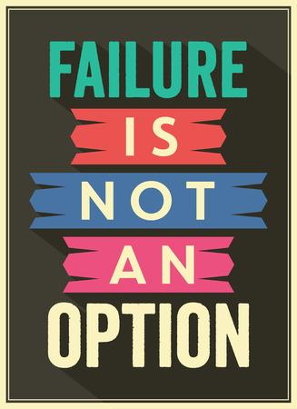 motivational: Typographic Background  Motivational Quote Illustration