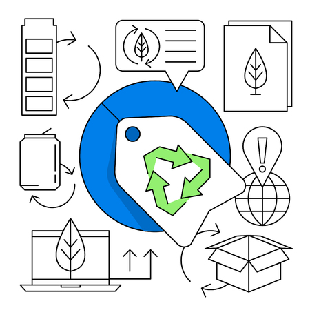 Linear Recycling Icon Set