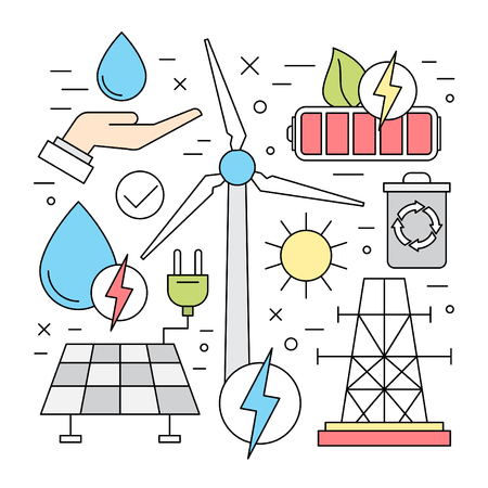 Linear Ecology and Renewable Energy Vector Elements