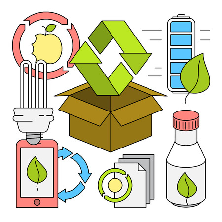 device: Linear Style Recycling Vector Elements