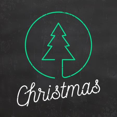 Typographic Christmas Design  Merry Christmas