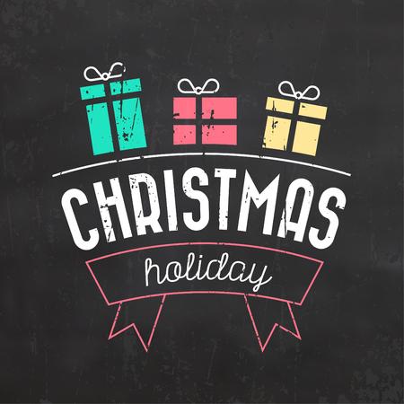Typographic Christmas Design / Christmas Holiday