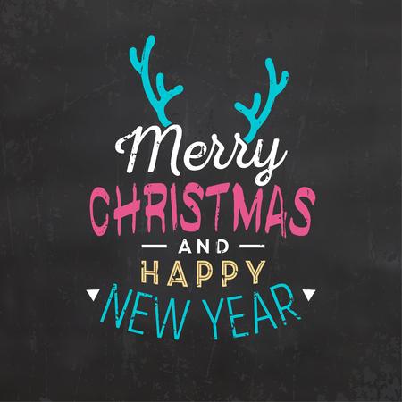Typographic Christmas Design vector Illustration