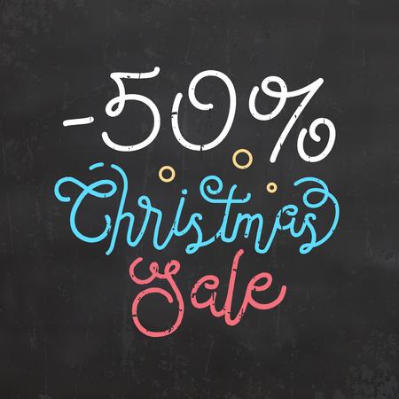 Christmas Sale Sign vector Illustration