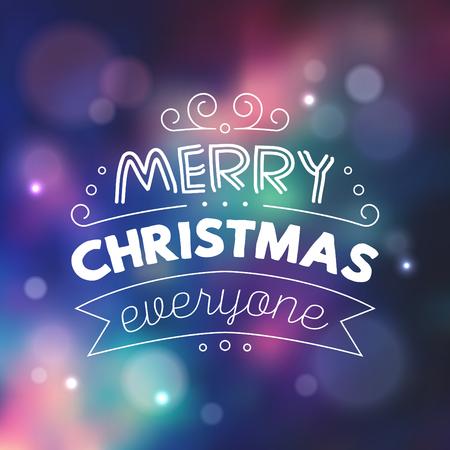 Typographic Christmas Design
