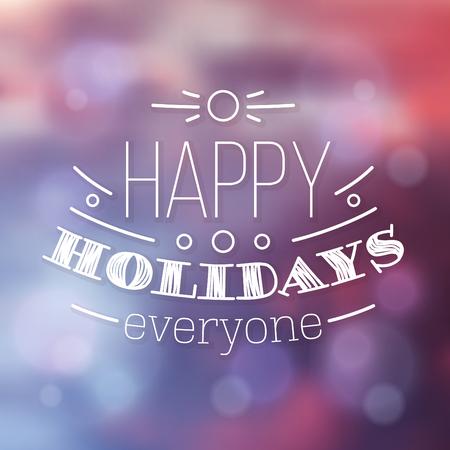Typographic Christmas Design / Happy Holidays Everyone
