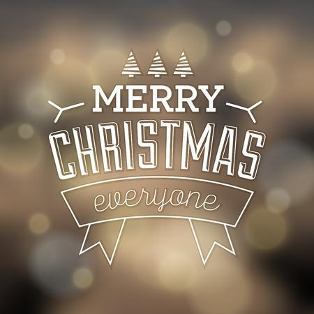 Typographic Christmas Design  Merry Christmas Everyone