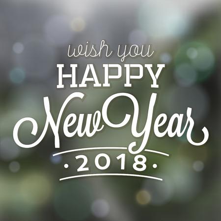 Typographic Happy New Year Design