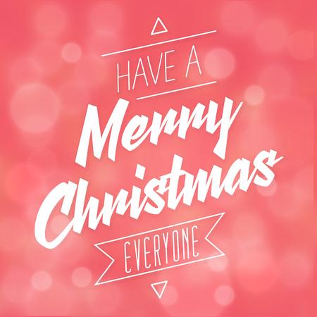 Typographic Christmas Design vector Иллюстрация