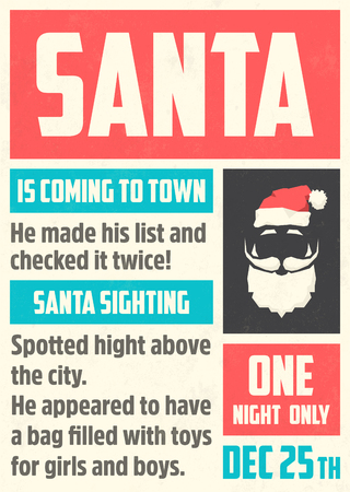 Poster with Santa vector illustration