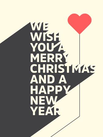 Christmas Typographic vector