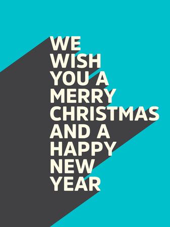 Christmas Typographic vector illustration