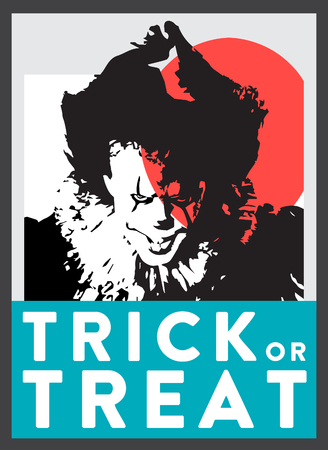 Scary Clown Poster vector