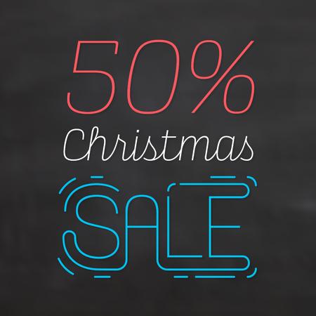Christmas Sale Sign Иллюстрация