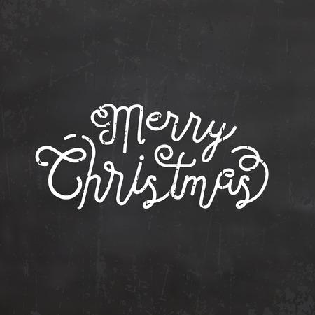 Typographic Christmas Design of Merry Christmas Иллюстрация
