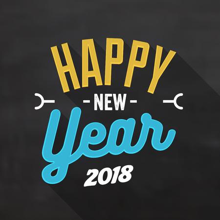 Typographic Design for Happy New Year 2018