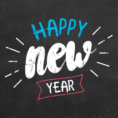 Typographic Design for Happy New Year