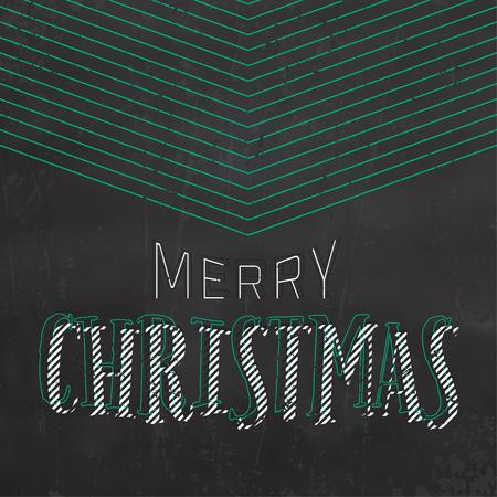 Typographic Christmas design on black background, vector illustration.