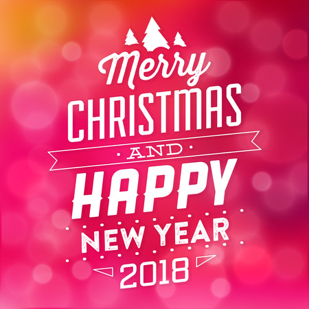 Typographic Christmas Design, Merry Christmas vector illustration.