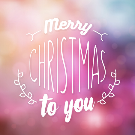 Typographic Christmas Design  Merry Christmas to You vector illustration.