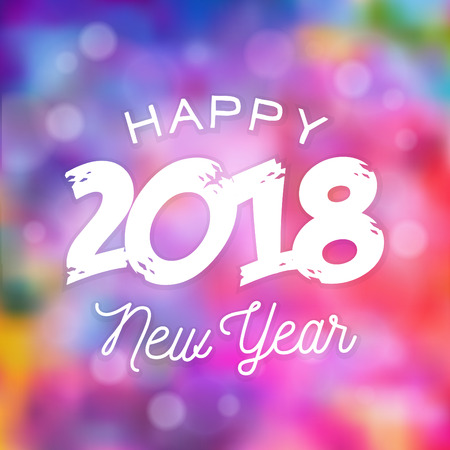 Typographic Happy New Year Design vector illustration. Иллюстрация