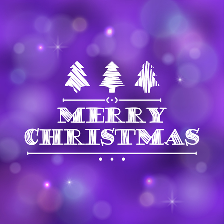 Typographic Christmas Design / Merry Christmas vector illustration. Иллюстрация