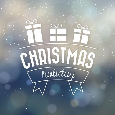 Typographic Christmas Design  Christmas Holiday vector illustration. Illustration