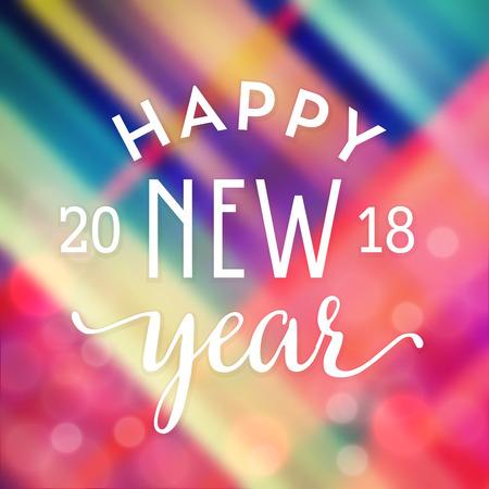 Typographic Happy New Year Design vector illustration. Иллюстрация