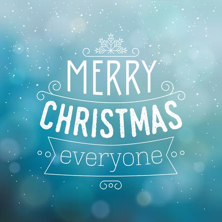 Typographic Christmas Design. Иллюстрация