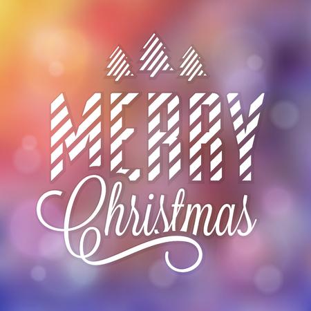 文字体裁のクリスマス デザイン。