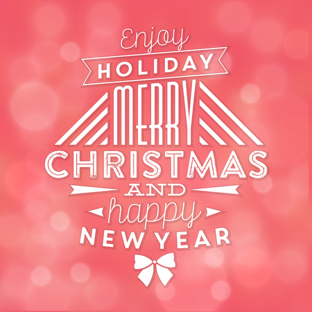 Typographic holiday design.