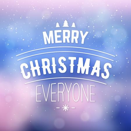 タイポグラフィクリスマスデザイン