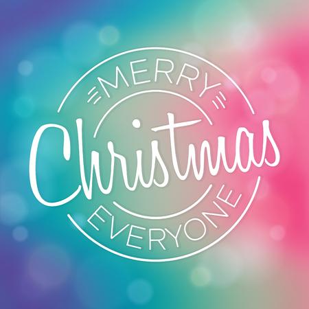 Typographic Christmas Design Stock Vector - 90835849