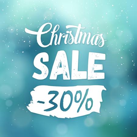 Christmas Sale Sign Ilustrace