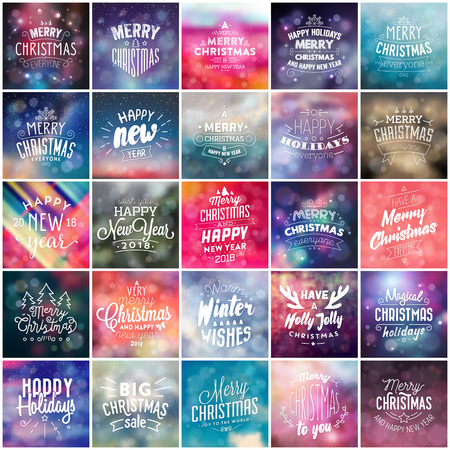 Typographic Holiday Design Mega Collection