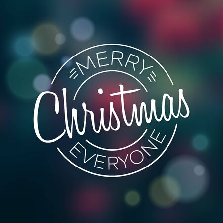 Typographic Christmas Design / Merry Christmas Everyone