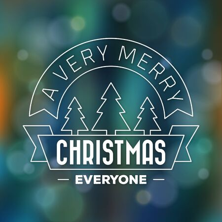 Typographic Christmas Design / Merry Christmas Everyone