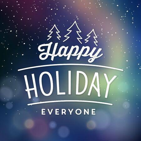 Typographic Christmas Design / Happy Holiday Everyone Иллюстрация