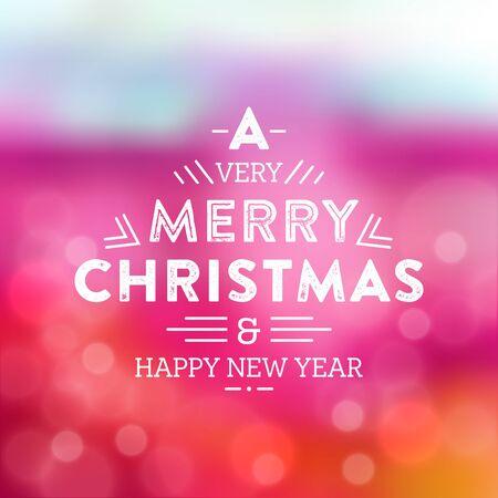Typographic Christmas Design / Merry Christmas Иллюстрация