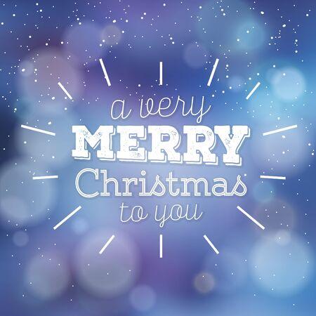 Typographic Christmas Design / Merry Christmas to You Иллюстрация
