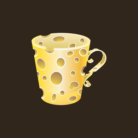 Image cheese cup yellow-brown
