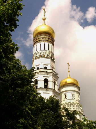Cathedral, domes, religion, christianity, the Kremlin, Moscow, Russia