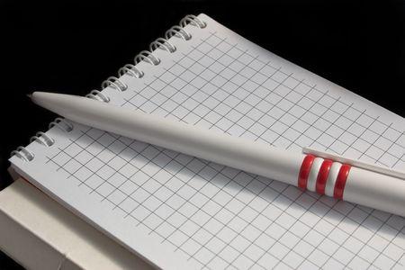 pen, notebook, notes, spirals, paper