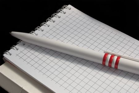 pen, notebook, notes, spirals, paper photo