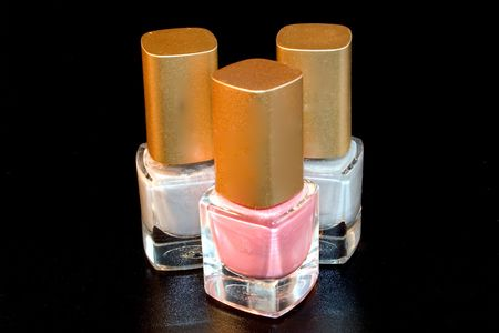 bottle of nail polish, isolated, polish, glamour photo