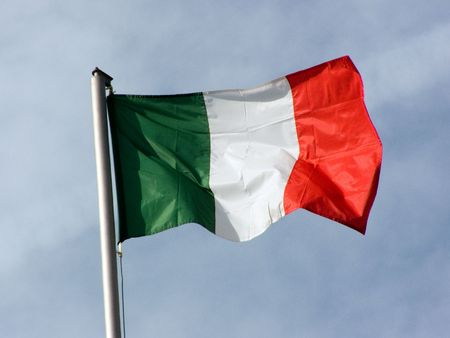 developing: flag, Italy, developing, wind, color
