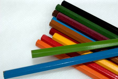 Pencils, row, view, graphic, clean, colored Stock Photo - 2057768