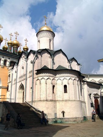 aureate: Cathedral, domes, Kremlin, Moscow, Russia Stock Photo